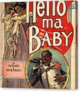 Vintage Sheet Music Cover Circa 1900 Canvas Print