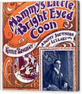 Vintage Sheet Music Cover Canvas Print