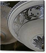 Vintage Silver And Glass Lighting Fixture Canvas Print