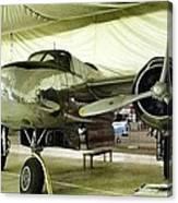 Vintage Silver Bomber Airplane Canvas Print