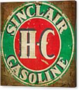 Vintage Sinclair Gasoline Sign Canvas Print