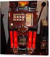 Vintage Slot Machine 25 Cents Canvas Print