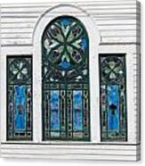 Vintage Stained Glass Windows Canvas Print