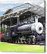 Vintage Steam Locomotive 5d29281 V2 Canvas Print