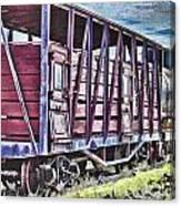 Vintage Steam Locomotive Carriages Canvas Print