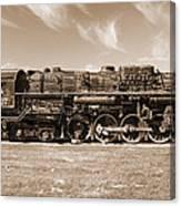 Vintage Steam Locomotive Canvas Print