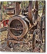Vintage Steam Tractor Canvas Print