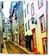 Vintage Style City Street Scene Photograph Canvas Print