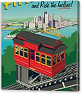 Pittsburgh Poster - Incline Canvas Print