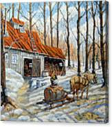 Vintage Sugar Shack By Prankearts Canvas Print