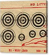 Vintage Target Card Canvas Print