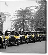 Vintage Taxis 3 Canvas Print
