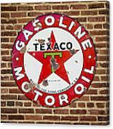 Vintage Texaco Gasoline Sign Dsc07195 Canvas Print