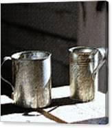Vintage Tin Cups Canvas Print