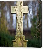 Vintage Tombstone Cross Canvas Print