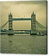 Vintage Tower Bridge Canvas Print