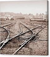 Vintage Tracks Canvas Print