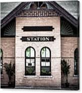Vintage Train Station Canvas Print