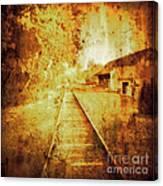 Vintage  Railway Portland Pa Usa Canvas Print