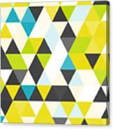 Vintage Triangle Pattern.geometric Canvas Print