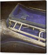 Vintage Trombone Canvas Print