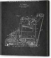 Vintage Typewriter Patent From 1918 Canvas Print