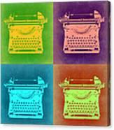 Vintage Typewriter Pop Art 1 Canvas Print