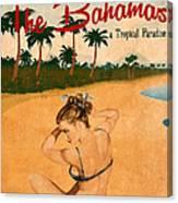 Vintage Vacation Ad Canvas Print