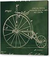 Vintage Velocipede Patent Canvas Print
