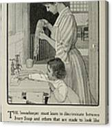 Vintage Victorian Soap Advert Canvas Print