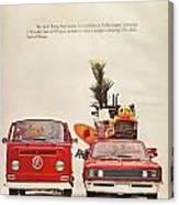 Vintage Volkswagen Camper Van  Canvas Print