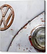 Vintage Vw Badge Canvas Print