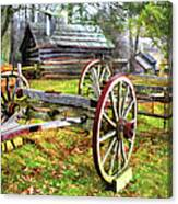 Vintage Wagon On Blue Ridge Parkway I Canvas Print