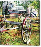 Vintage Wagon On Blue Ridge Parkway II Canvas Print