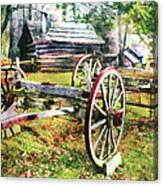 Vintage Wagon On Blue Ridge Parkway II Canvas Print
