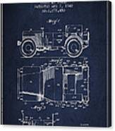 Vintage Willys Jeep Patent From 1942 Canvas Print
