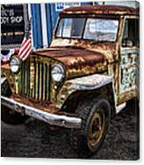 Vintage Willy's Jeep Pickup Truck Canvas Print