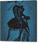 Vintage Women Color Art 1 Canvas Print