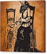 Vintage Women Color Art 14 Canvas Print