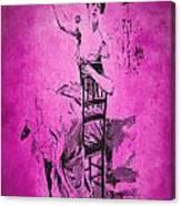 Vintage Women Color Art 55 Canvas Print