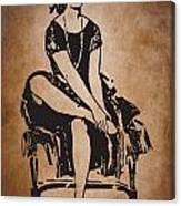 Vintage Women Color Art 63 Canvas Print