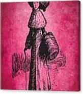 Vintage Women Color Art 72 Canvas Print