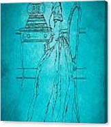 Vintage Women Color Art 84 Canvas Print