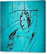 Vintage Women Color Art 89 Canvas Print