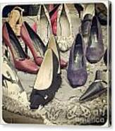 Vintage Women Shoes Canvas Print