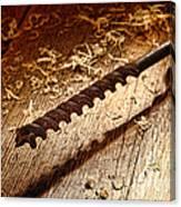 Vintage Wood Drill Canvas Print