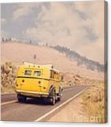 Vintage Yellowstone Bus Canvas Print