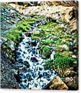 Vintaged Mount Hood Postcard Canvas Print