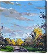 Viola Jogging Canvas Print