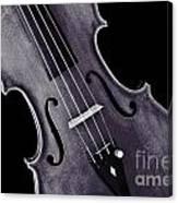 Viola Violin Photograph Strings Bridge In Sepia 3263.01 Canvas Print
